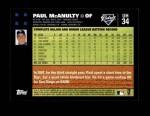 2007 Topps Update #34  Paul McAnulty  Back Thumbnail