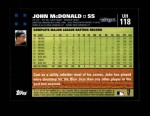 2007 Topps Update #118  John McDonald  Back Thumbnail