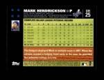 2007 Topps Update #25  Mark Hendrickson  Back Thumbnail