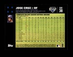 2007 Topps Update #38  Jose Cruz  Back Thumbnail