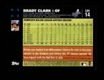 2007 Topps Update #14  Brady Clark  Back Thumbnail
