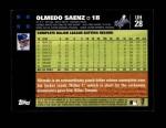 2007 Topps Update #28  Olmedo Saenz  Back Thumbnail