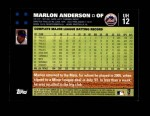 2007 Topps Update #12  Marlon Anderson  Back Thumbnail