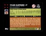 2007 Topps Update #152  Tyler Clippard  Back Thumbnail