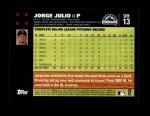 2007 Topps Update #13  Jorge Julio  Back Thumbnail