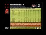 2007 Topps Update #97  Shawn Hill  Back Thumbnail