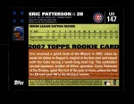 2007 Topps Update #147  Eric Patterson  Back Thumbnail