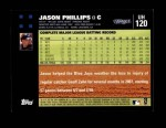 2007 Topps Update #120  Jason Phillips  Back Thumbnail