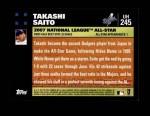 2007 Topps Update #245  Takashi Saito  Back Thumbnail