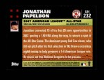 2007 Topps Update #232  Jonathan Papelbon  Back Thumbnail