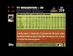 2007 Topps Update #319  Ty Wigginton  Back Thumbnail