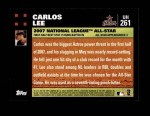 2007 Topps Update #261  Carlos Lee  Back Thumbnail