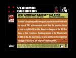 2007 Topps Update #220  Vladimir Guerrero  Back Thumbnail