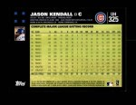 2007 Topps Update #325  Jason Kendall  Back Thumbnail