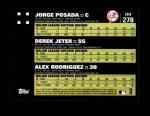 2007 Topps Update #278  Jorge Posada  Back Thumbnail
