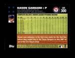 2007 Topps Update #300  Kason Gabbard  Back Thumbnail