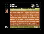 2007 Topps Update #271  Dan Haren  Back Thumbnail