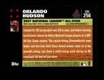 2007 Topps Update #256  Orlando Hudson  Back Thumbnail