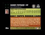 2007 Topps Update #202  Danny Putnam  Back Thumbnail