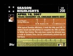2007 Topps Update #208  Mark Buehrle  Back Thumbnail