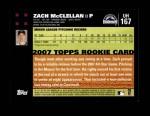 2007 Topps Update #167  Zach McClellan  Back Thumbnail
