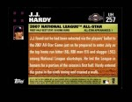 2007 Topps Update #257  J.J. Hardy  Back Thumbnail
