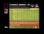 2007 Topps Update #304  D'Angelo Jimenez  Back Thumbnail
