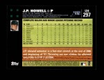 2007 Topps Update #297  J.P. Howell  Back Thumbnail