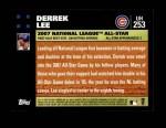 2007 Topps Update #253  Derrek Lee  Back Thumbnail