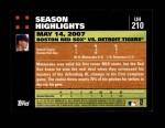 2007 Topps Update #210  Daisuke Matsuzaka  Back Thumbnail
