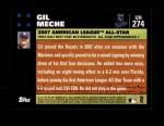 2007 Topps Update #274  Gil Meche  Back Thumbnail