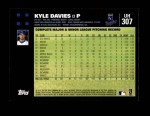 2007 Topps Update #307  Kyle Davies  Back Thumbnail