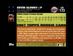 2007 Topps Update #173  Kevin Slowey  Back Thumbnail