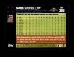 2007 Topps Update #308  Gabe Gross  Back Thumbnail
