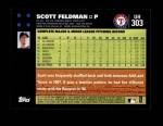 2007 Topps Update #303  Scott Feldman  Back Thumbnail