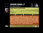 2007 Topps Update #180  Joakim Soria  Back Thumbnail