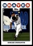2008 Topps Updates #104  Omar Infante  Front Thumbnail
