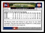 2008 Topps Updates #104  Omar Infante  Back Thumbnail