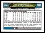 2008 Topps Updates #121  Jacque Jones  Back Thumbnail