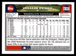 2008 Topps Updates #116  Odalis Perez  Back Thumbnail