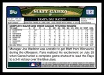 2008 Topps Updates #50  Matt Garza  Back Thumbnail