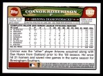 2008 Topps Updates #37  Connor Robertson  Back Thumbnail