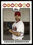 2008 Topps Updates #37  Connor Robertson  Front Thumbnail