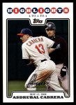 2008 Topps Updates #161   -  Asdrubal Cabrera  Highlights Front Thumbnail