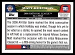 2008 Topps Updates #11   -  Matt Holliday All-Star Back Thumbnail