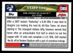 2008 Topps Updates #59   -  Cliff Lee All-Star Back Thumbnail