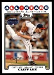 2008 Topps Updates #59   -  Cliff Lee All-Star Front Thumbnail