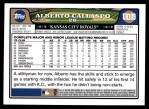2008 Topps Updates #109  Alberto Callaspo  Back Thumbnail