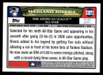 2008 Topps Updates #71   -  Mariano Rivera All-Star Back Thumbnail