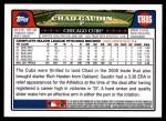 2008 Topps Updates #85  Chad Gaudin  Back Thumbnail